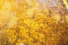 Grunge abstract hand geschilderd canvas in oranje kleuren Royalty-vrije Stock Foto
