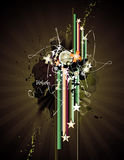 Grunge abstract  illustration Royalty Free Stock Image