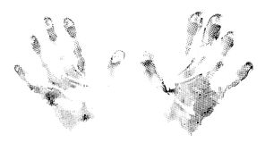 Grunge abstract imprints of hands Royalty Free Stock Photography