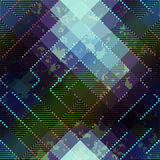 Grunge abstract matrix pattern on blurred Stock Photography