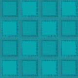 Grunge Abstract Naadloos Patroon. Turkooise vierkanten Royalty-vrije Stock Afbeelding