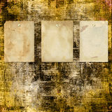 Grunge abstract newspaper background. For design with old torn posters Royalty Free Stock Photos