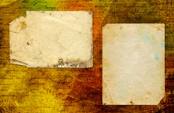 Grunge abstract paper background with old photo Royalty Free Stock Images
