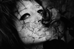 Grunge abstract portrait of gothic girl Stock Photo