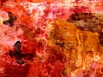 Grunge abstract textured mixed media collage, art Royalty Free Stock Image