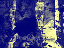 Grunge abstract textured mixed media collage, art Royalty Free Stock Images