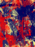 Grunge abstract textured mixed media collage, art Stock Images