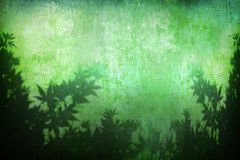 Grunge abstract turquoise plant background Stock Image