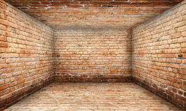 Grunge Abstract Urban Brick Room Stage Background Stock Photos