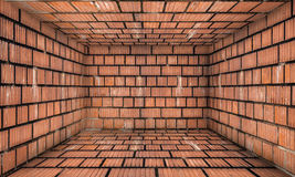Grunge Abstract Urban Brick Room Stage Background Stock Image