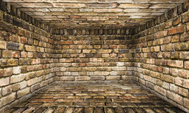 Grunge Abstract Urban Brick Room Stage Background Stock Photo