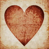 Grunge abstract Valentine heart background Stock Photos