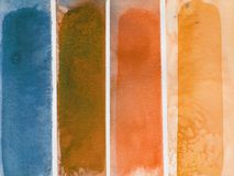 Grunge abstract watercolor background stripes Royalty Free Stock Photo