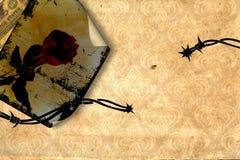 Grunge abstracte achtergrond met ouderwetse elementen stock illustratie