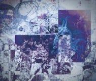 Grunge abstracte geweven gemengde media collage, art. Royalty-vrije Stock Afbeeldingen