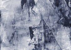 Grunge abstracte geweven gemengde media collage, art. stock illustratie