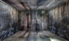 Grunge Abstracte Stedelijke Metaalzaal Stadiumachtergrond Stock Foto's