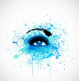 Grunge abstraction blue make-up. Vector Stock Images