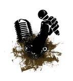 Grunge abstracto mic a disposición Imagen de archivo libre de regalías