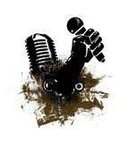 grunge abstrakcjonistyczna ręka mic Obraz Royalty Free