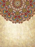 Grunge abstrakcjonistycznego okręgu kwiecisty tło Obraz Royalty Free