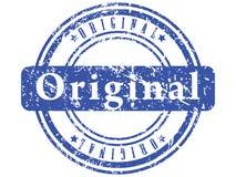 grunge abstrakcjonistyczny błękitny znaczek Fotografia Stock