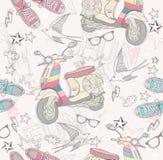 grunge abstrakcjonistyczny śliczny wzór Zdjęcia Royalty Free