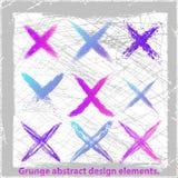 Grunge abstrakta krzyż. Obrazy Royalty Free