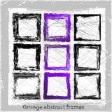 Grunge abstrakta ramy. Obraz Royalty Free