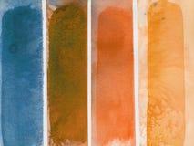 Grunge abstrakte Aquarell-Hintergrundstreifen Lizenzfreies Stockfoto