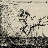 Grunge abstrakter Hintergrund mit Baumzweig Stockbilder