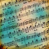Grunge abstrakter musikalischer Hintergrund Stockfoto