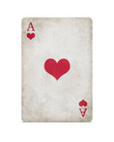 Grunge ace of hearts Royalty Free Stock Photos