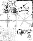 Grunge achtergrondreeks Stock Fotografie
