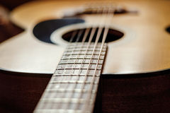 Grunge acoustic guitar Royalty Free Stock Images