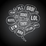 Grunge Acronym Chat Bubble Royalty Free Stock Photography