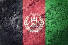 Grunge Afganistan flaga Afganistan flaga z grunge teksturą Zdjęcie Stock