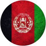 Grunge Afghanistan flag. Afghanistan button flag Isolated on whi Royalty Free Stock Photos