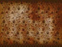 Grunge aged floral texture Stock Photos