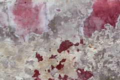 Grunge aged weathered cement pink red wall Stock Photography