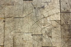 Old Cracked Worn Wood. Grunge Aged Wood Block textures Stock Images