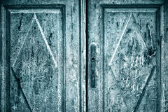Grunge aged wooden house door details Royalty Free Stock Image