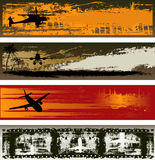 Grunge Air Transport Web Banner Templates Royalty Free Stock Photos