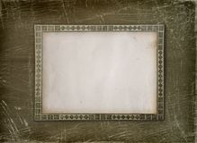 Grunge album with ornamental frame Stock Photo