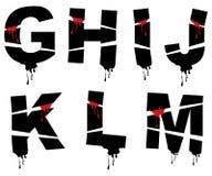 grunge alfabet Halloween. Zdjęcia Stock