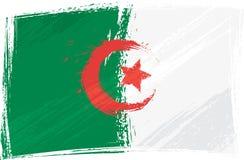 Grunge Algeria flag. Algeria national flag created in grunge style Royalty Free Stock Photo