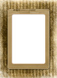 Grunge alienated frame from old paper Stock Photo