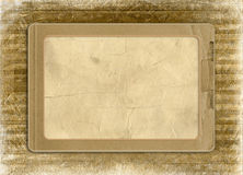 Grunge alienated frame from old paper royalty free stock image