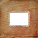 Grunge alienated frame from old paper. On the abstract background Royalty Free Stock Photos