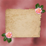 Grunge alienated paper for congratulation Royalty Free Stock Photos